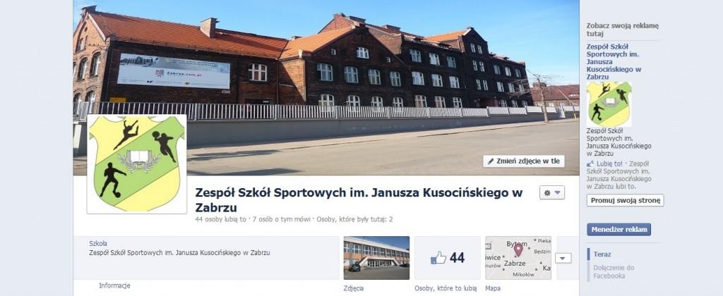 Profil Zespołu Szkół Sportowych na Facebooku